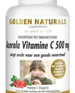Golden Naturals Acerola Vitamine C 500 mg (100 zuigtabl.)
