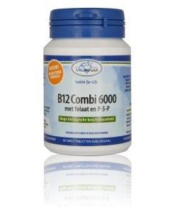 Vitakruid B12 Combi 6000 met folaat & P-5-P 60 smelttabletten