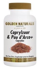 Golden Naturals Caprylzuur & Pau d'arco Formule met Probiotica (60 vega caps)