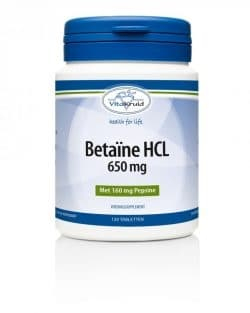 Vitakruid Betaine HCL 650 mg 120 tabletten