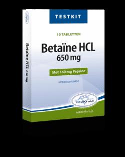 Vitakruid Betaine HCL testkit 10 tabletten