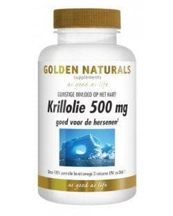 Golden Naturals Krillolie 500 mg (60 softgel caps.)