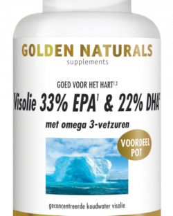 Golden Naturals Visolie 1000mg EPA 33% DHA 22% (180 caps)