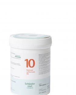 Schussler zout pfluger nr 10 Natrium Sulfuricum D6 1000 tabletten
