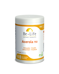 Be-Life Acerola 750 BIO 50 zuurbestendige capsules