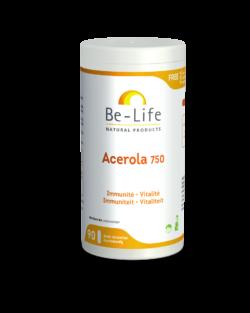 Be-Life Acerola 750 BIO 90 zuurbestendige capsules