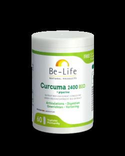 Be-Life Curcuma 2400 + Piperine BIO 60 organic capsules