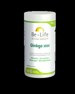 Be-Life Gink-go 3000 BIO 180 plantaardige capsules