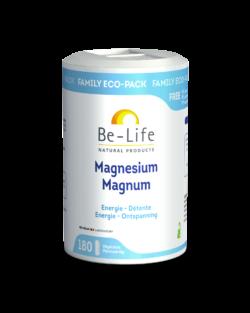Be-Life Magnesium Magnum 180 plantaardige capsules VOORDEELVERPAKKING