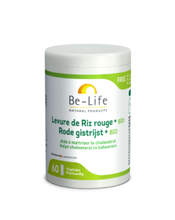 Be-Life Rode Gist Rijst + BIO 60 plantaardige capsules