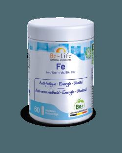 Be-Life Fe IJzer + Vit. B9 – B 12 60 plantaardige capsules