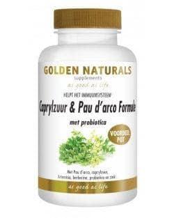 Golden Naturals Caprylzuur & Pau d'arco Formule met Probiotica (180 vega caps)