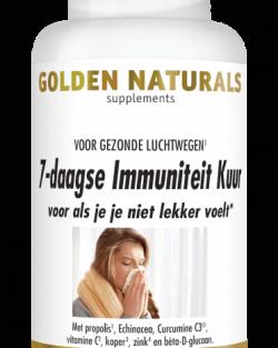 Golden Naturals 7-daagse Immuniteit kuur 21 capsules
