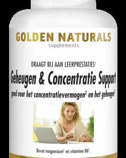 Golden Naturals Geheugen & Concentratie Support 60 V-caps