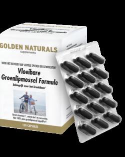 Golden Naturals Vloeibare Groenlipmossel Formule 120 softgel capsules
