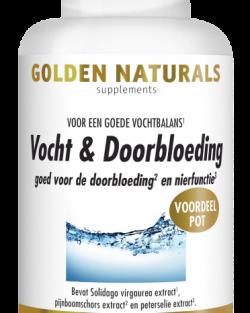 Golden Naturals Vocht & Doorbloeding 180 capsules