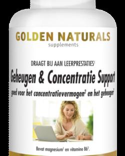 Golden Naturals Geheugen & Concentratie Support 60 V-caps