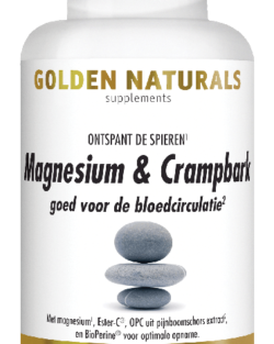 Golden Naturals Magnesium & Crampbark Golden 60   tabletten