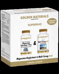 Golden Naturals Duoset Magnesium Bisglycinaat + Multi Strong Gold