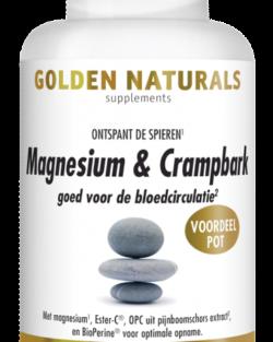 Golden Naturals Magnesium & Crampbark 180 tabletten VOORDEELPOT