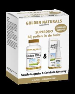 Golden Naturals Scutellaria Capsules + Scutellaria Neusspray 20 ml