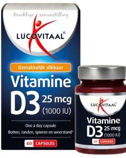 Lucovitaal Vitamine D3 25 mcg 60 capsules
