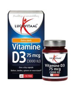 Lucovitaal Vitamine D3 75 mcg 60+10 capsules
