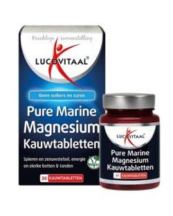 Lucovitaal Pure Marine Magnesium Kauwtabletten 30 kauwtabletten