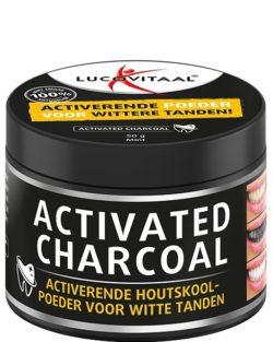 Lucovitaal Activated Charcoal – Geactiveerde Houtskoolpoeder voor witte tanden 50 gram
