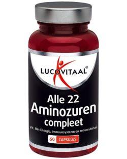 Lucovitaal Alle 22 Aminozuren Compleet 60 plantaardige capsules