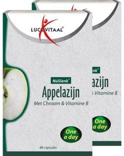 Lucovitaal NuSlank Appelazijn DUO VOORDEELPAK 2×48 capsules