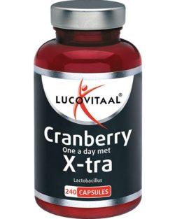 Lucovitaal Cranberry met X-tra Lactobacillus 240 capsules MAXI POT