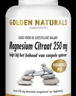 Golden Naturals Magnesium Citraat 250 mg 180 veganistische capsules VOORDEELVERPAKKING
