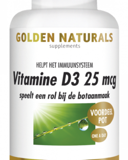 Golden Naturals Vitamine D3 25 mcg 360 softgel capsules VOORDEELPOT
