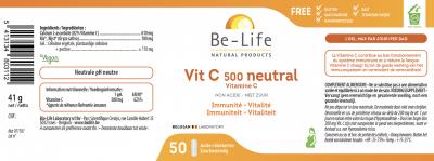 Vit C 500 neutral Be-Life