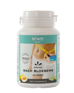 N°45 Bach bloesems kauwgom SLANK | VEGAN – 50gr